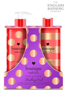 The English Bathing Company, Boutique With Love Hand & Body Wash Duo - Strawberry Crush