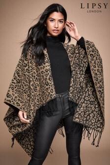 Lipsy Leopard Reversible Cape