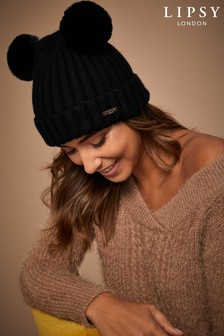 Lipsy Pom Cable Knit Hat