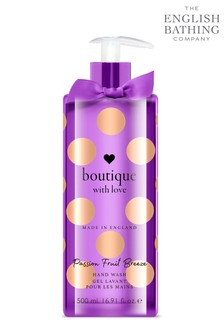 The English Bathing Company, Boutique With Love Hand Wash - Passion Fruit Breeze 500ml