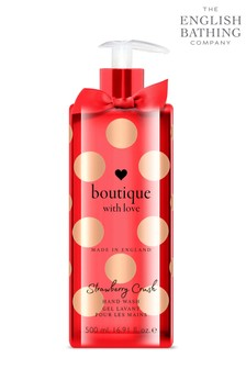 The English Bathing Company, Boutique With Love Hand Wash - Strawberry Crush 500ml