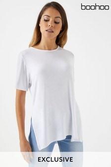 Boohoo Basic Split T-Shirt