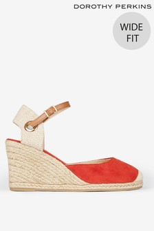 Dorothy Perkins Wide Fit Raya Espadrille Wedge