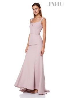 Jarlo Square Neck Sleeveless Gown