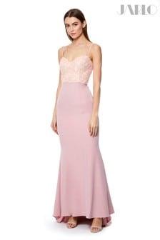 Jarlo 3D Floral Lace Bustier Gown