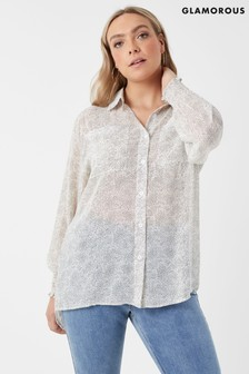 Glamorous Curve Polka Dot Shirt