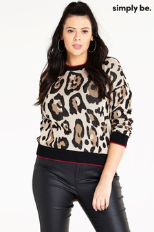 Simply Be Leopard Print Jumper Co-ord