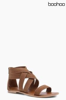 Boohoo Boutique Multi Strap Gladiator Suede Sandal