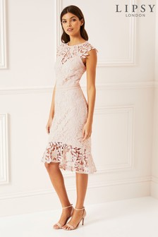 Lipsy Laced Midi Dress
