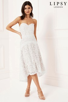 Lipsy All Over Lace Prom Dress