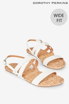 Dorothy Perkins Wide Fit Fabia Crossover Sandal