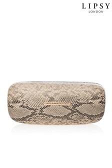 Lipsy Snake Print Hard Sunglasses Case