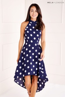 Mela London Polka Dot High Low Dress