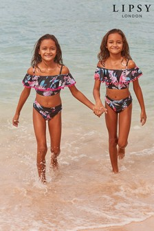 Lipsy Girl Tropical Frill Bikini