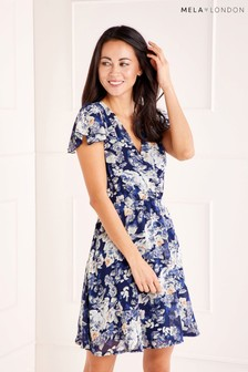 Mela London Floral Wrap Dress