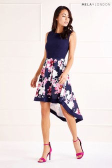 Mela London Two Tone High Low Dress