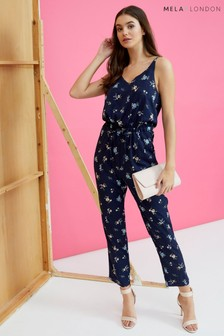 Mela London Floral Drawstring Jumpsuit