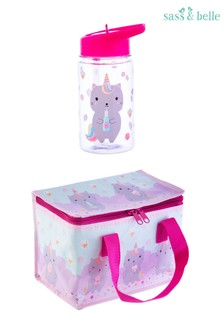 Sass & Belle Candy Caticorn Lunch Bag with Bottle