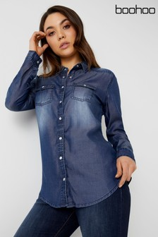 Boohoo Soft Denim Shirt