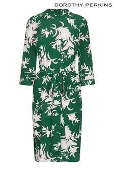 Dorothy Perkins Petite Floral Tie Dress