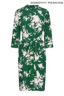 Vestido con estampado floral y detalle anudado de Dorothy Perkins Petite