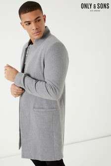 Only & Sons Wool Trench Coat