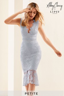 Abbey Clancy X Lipsy Petite Lace Midi Dress