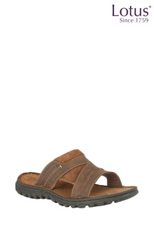 Lotus Leather Sandals
