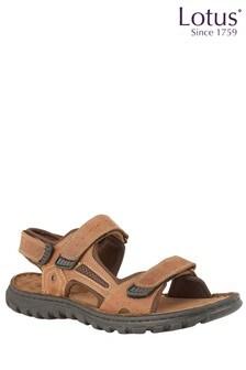 Lotus Leather Sandals