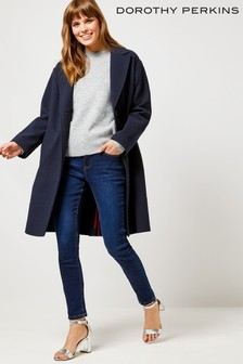 Dorothy Perkins Relaxed Unlined Crombie Coat