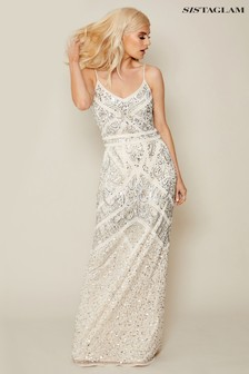 Sistaglam Embroidered Maxi Dress