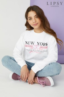 Lipsy Girl Fluro Graphic Sweat