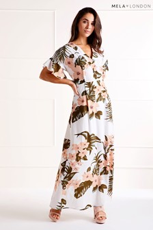 Mela London Tropical Pastel Print Dress