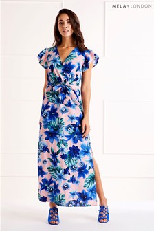 56ecb2fca0ef Mela London Printed Maxi Dress