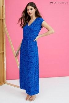 Mela London V neck Lace Maxi Dress
