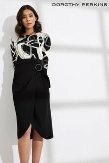 Dorothy Perkins Eyelet Wrap Midi Skirt