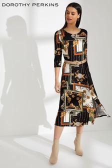 Dorothy Perkins Scarf Print Midi Dress