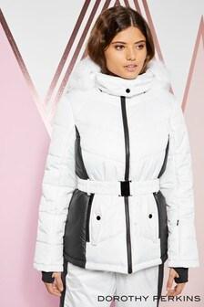 Dorothy Perkins Faux Fur Hood Ski Jacket