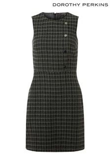 Dorothy Perkins Boucle Button Shift Dress
