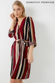 Dorothy Perkins Stripe Button Through Shirt Dress