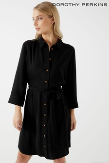 Dorothy Perkins Copper Button Shirt Dress