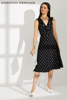 Dorothy Perkins Spot Ruffle Wrap Midi Dress