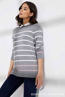 Dorothy Perkins Ana Stripe 2-In-1 Jumper