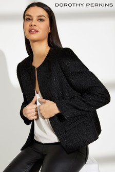 Dorothy Perkins Boucle Boxy Tinsel Jacket