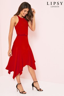 Lipsy Halter Fit & Flare Dress