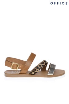 Office Slingback Leopard Print Sandals
