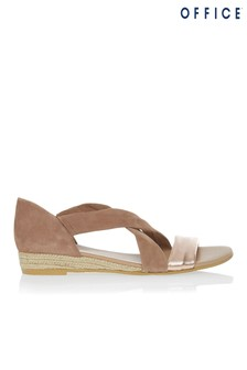 Office Cross Over Espadrille Sandals