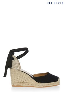 Office Tie Up Heeled Espadrilles