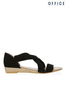 Office Suede Cross Over Espadrille Sandal