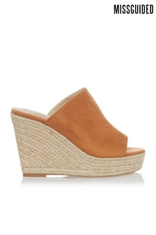 Missguided Faux Suede Wedges
